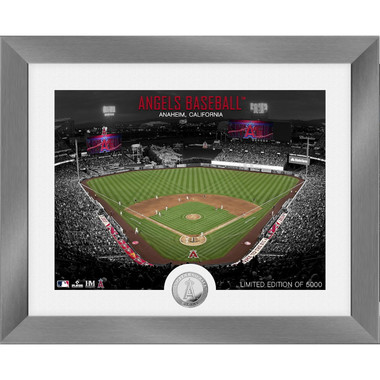Highland Mint Los Angeles Angels Art Deco Stadiums Silver Coin 13 x 16 Photo Mint