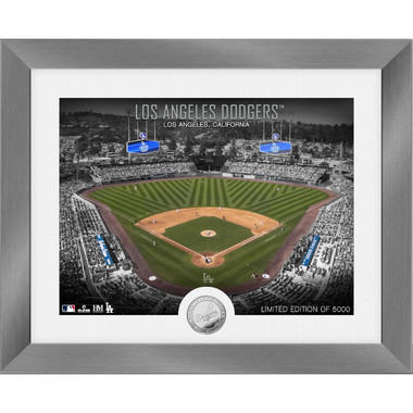 Highland Mint Los Angeles Dodgers Art Deco Stadiums Silver Coin 13 x 16 Photo Mint