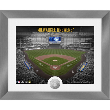 Highland Mint Milwaukee Brewers Art Deco Stadiums Silver Coin 13 x 16 Photo Mint