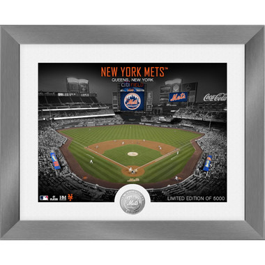 Highland Mint New York Mets Art Deco Stadiums Silver Coin 13 x 16 Photo Mint