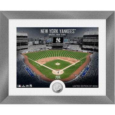 Highland Mint New York Yankees Art Deco Stadiums Silver Coin 13 x 16 Photo Mint
