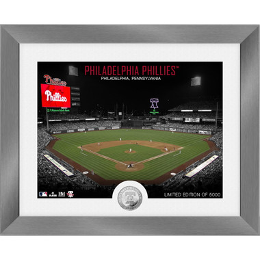 Highland Mint Philadelphia Phillies Art Deco Stadiums Silver Coin 13 x 16 Photo Mint