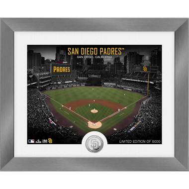 Highland Mint San Diego Padres Art Deco Stadiums Silver Coin 13 x 16 Photo Mint
