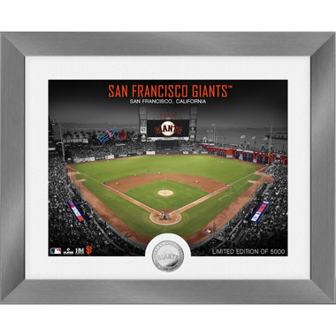Highland Mint San Francisco Giants Art Deco Stadiums Silver Coin 13 x 16 Photo Mint