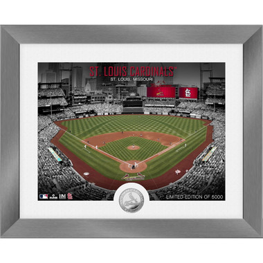 Highland Mint St. Louis Cardinals Art Deco Stadiums Silver Coin 13 x 16 Photo Mint