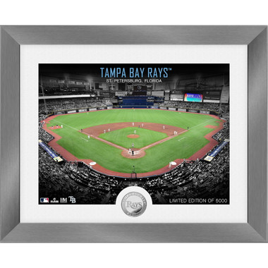 Highland Mint Tampa Bay Rays Art Deco Stadiums Silver Coin 13 x 16 Photo Mint