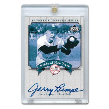 Jerry Lumpe Autographed Card 2003 Upper Deck Yankees Signature Series #PN-JL