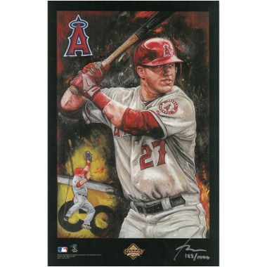 Mike Trout Los Angeles Angels 11 x 17 Limited Edition Lithograph