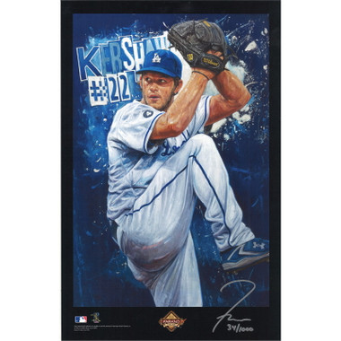 Clayton Kershaw Los Angeles Dodgers 11 x 17 Limited Edition Lithograph