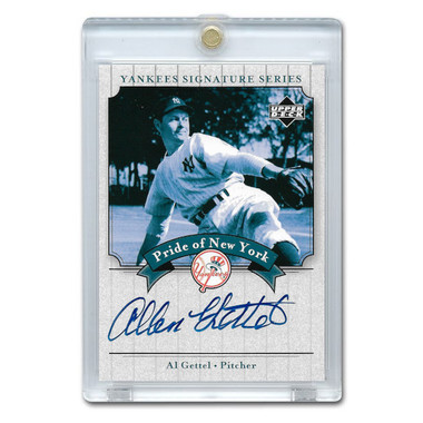 Al Gettel Autographed Card 2003 Upper Deck Yankees Signature Series #PN-AG