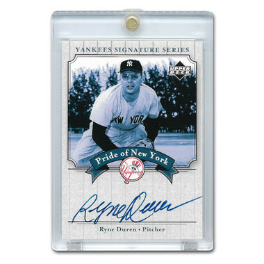 Ryne Duren Autographed Card 2003 Upper Deck Yankees Signature Series #PN-RD