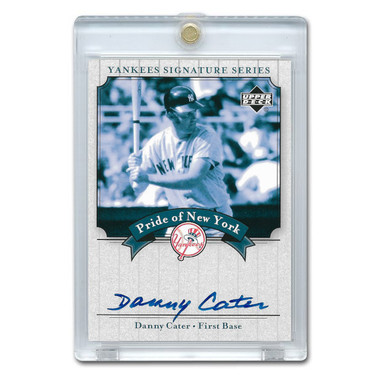 Danny Cater Autographed Card 2003 Upper Deck Yankees Signature Series #PN-DC