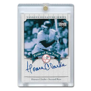 Horace Clarke Autographed Card 2003 Upper Deck Yankees Signature Series #PN-HC