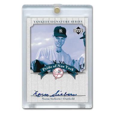 Norm Siebern Autographed Card 2003 Upper Deck Yankees Signature Series #PN-NS