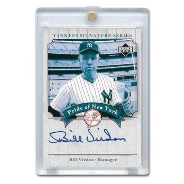Bill Virdon Autographed Card 2003 Upper Deck Yankees Signature Series #PN-BV