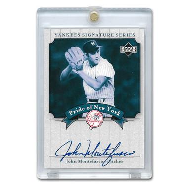 John Montefusco Autographed Card 2003 Upper Deck Yankees Signature Series #PN-MO