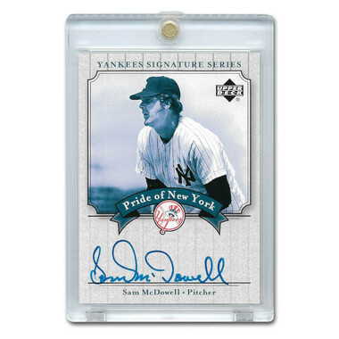 Sam McDowell Autographed Card 2003 Upper Deck Yankees Signature Series #PN-SM