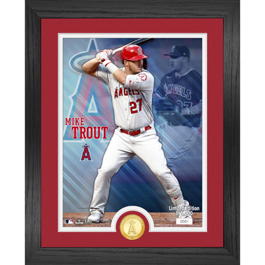 Highland Mint Mike Trout Los Angeles Angels Bronze Coin 13 x 16 Photo Mint