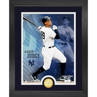 Highland Mint Aaron Judge New York Yankees Bronze Coin 13 x 16 Photo Mint