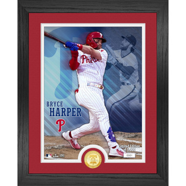 Highland Mint Bryce Harper Philadelphia Phillies Bronze Coin 13 x 16 Photo Mint