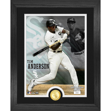 Highland Mint Tim Anderson Chicago White Sox Bronze Coin 13 x 16 Photo Mint