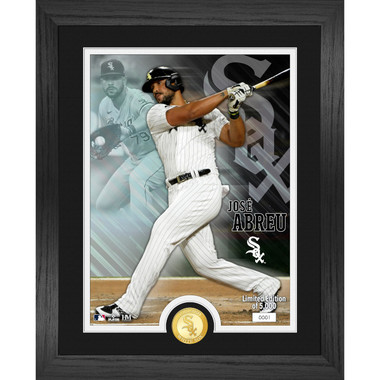 Highland Mint Jose Abreu Chicago White Sox Bronze Coin 13 x 16 Photo Mint