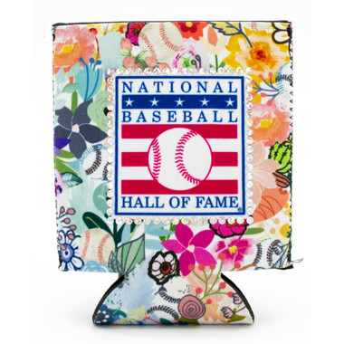 Baseball Hall of Fame Logo Flower Can Cooler