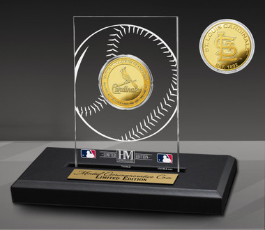 St. Louis Cardinals 11-Time Champions Acrylic Gold Coin