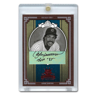 Andre Dawson Autographed Card 2005 Donruss Diamond Kings Crowning Moment Ltd Ed of 50