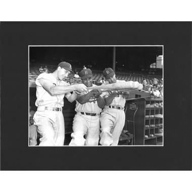 Matted 8x10 Photo- Gil Hodges, Roy Campanella and Duke Snider