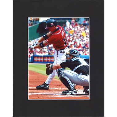 Matted 8x10 Photo- Chipper Jones Batting