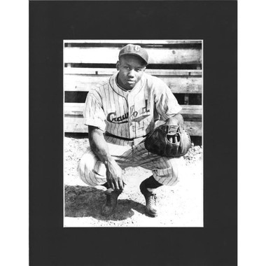 Matted 8x10 Photo- Josh Gibson Catching