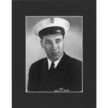Matted 8x10 Photo- Bob Feller Navy Uniform