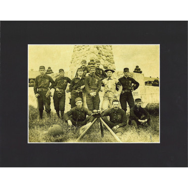 Matted 8x10 Photo- 7th Calvary Troop 1899