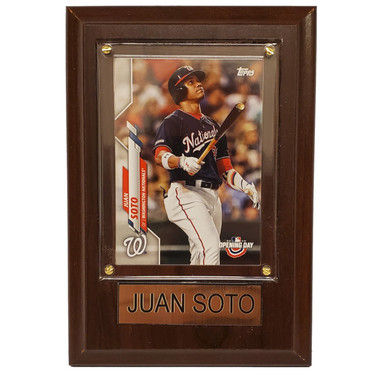 "Juan Soto Washington Nationals 4"" x 6"" Baseball Card Plaque"