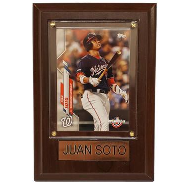 "Juan Soto Washington Nationals 4"" x 6"" Baseball Card Plaque"