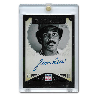 Jim Rice Autographed Card 2015 Panini Cooperstown # 23