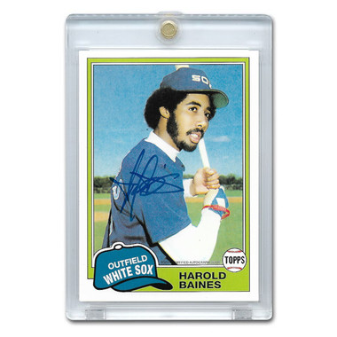 Harold Baines Autographed Card 2016 Topps 65th Anniversary