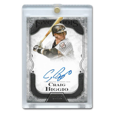 Craig Biggio Autographed Card 2015 Topps Five Star Ltd Ed of 25