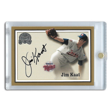 Jim Kaat Autographed Card 2000 Fleer Greats of the Game