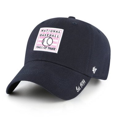 Women's '47 Brand Baseball Hall of Fame Navy Sparkle Logo Adjustable Cap