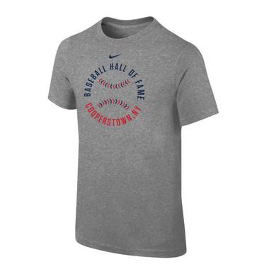 Youth Nike Baseball Hall of Fame Stitches Dark Grey Heather T-Shirt