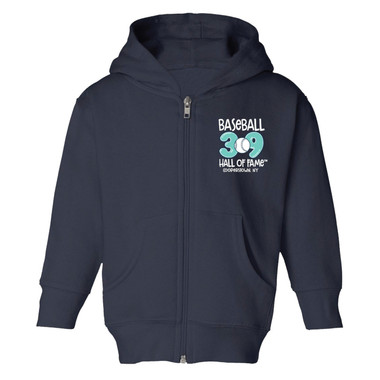 Toddler Baseball Hall of Fame 39 Full Zip Navy Hoodie