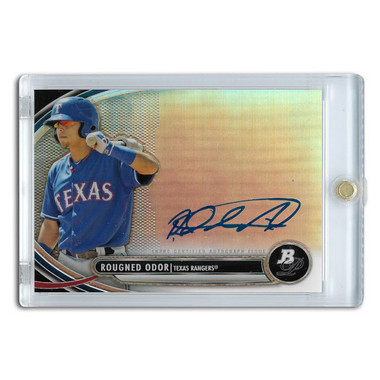 Rougned Odor Autographed Card 2014 Bowman Platinum # BPAP-RO