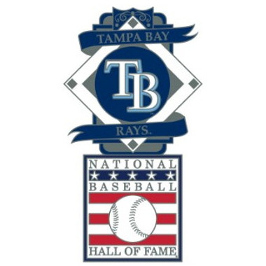 Tampa Bay Rays Baseball Hall of Fame Logo Exclusive Collector's Pin