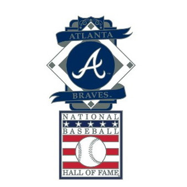 Atlanta Braves Baseball Hall of Fame Logo Exclusive Collector's Pin