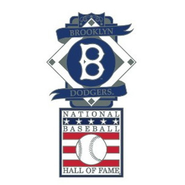 Brooklyn Dodgers Baseball Hall of Fame Logo Exclusive Collector's Pin