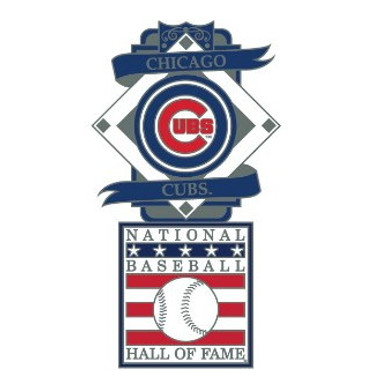 Chicago Cubs Baseball Hall of Fame Logo Exclusive Collector's Pin