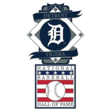 Detroit Tigers Baseball Hall of Fame Logo Exclusive Collector's Pin