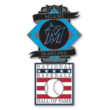 Miami Marlins Baseball Hall of Fame Logo Exclusive Collector's Pin